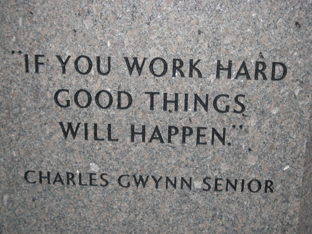 ... Things Will Happen.u201d Quote From Tony Gwynnu0027s Father