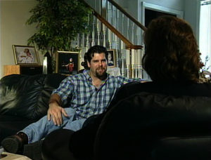 Ken Caminiti chats at his home in February 1997 for what would be the first